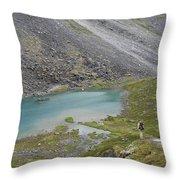 Backpacking In Alaska Talkeetna Throw Pillow