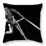 Baseball Swing Throw Pillow