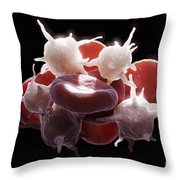 Blood Cells Throw Pillow