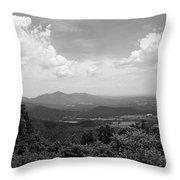 Blue Ridge Mountains - Virginia Bw 2 Throw Pillow