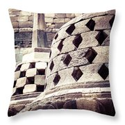 Borobudur Temple Throw Pillow