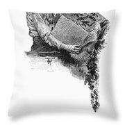 Boston Tea Party, 1773 Throw Pillow