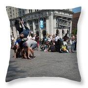 Breakdancers Throw Pillow