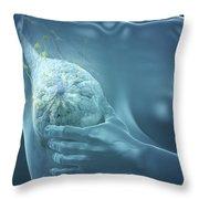 Breast Examination Throw Pillow