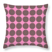 7 By 7 On Pink Throw Pillow