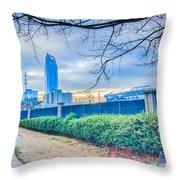 Charlotte Downtown Throw Pillow