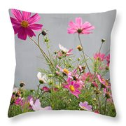 Close-up Of Flowers Throw Pillow