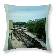 Cta's Retired 2200-series Railcar Throw Pillow