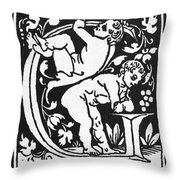 Decorative Initial G Throw Pillow