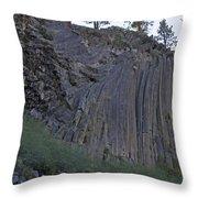 Devils Postpile National Monument Throw Pillow