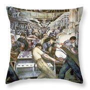 Diego Rivera - Detroit Throw Pillow