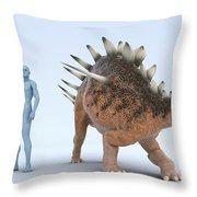 Dinosaur Kentrosaurus Throw Pillow