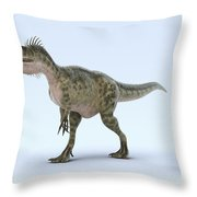 Dinosaur Monolophosaurus Throw Pillow