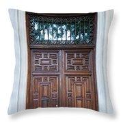 Distinctive Doors In Madrid Spain Throw Pillow