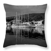 Fiskardo Village Throw Pillow