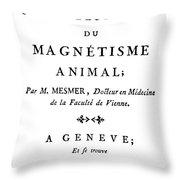 Franz Mesmer (1734-1815) Throw Pillow