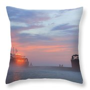 Ghost Ship Glowing Throw Pillow