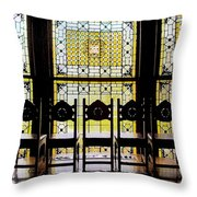 7 Hairs And Stained Glass Db Throw Pillow