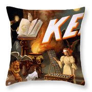 Harry Keller, American Magician Throw Pillow