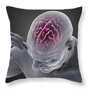 Head Ache Throw Pillow