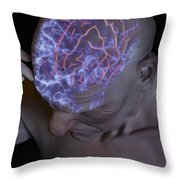 Head Pain Throw Pillow