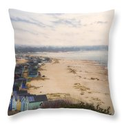 Hengistbury Head - England Throw Pillow