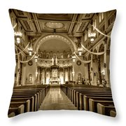 Holy Cross Catholic Church Throw Pillow