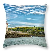Howth Harbour Throw Pillow