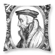 John Calvin (1509-1564) Throw Pillow