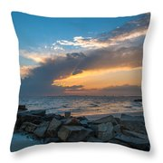 Sc Lowcountry Sunset Throw Pillow