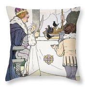 Mother Goose, 1916 Throw Pillow