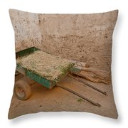 Mud Brick Village Throw Pillow
