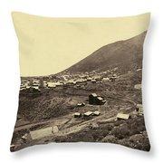 Nevada Virginia City Throw Pillow