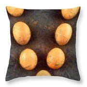 Organic Eggs Throw Pillow by George Atsametakis