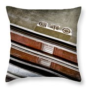 1969 Pontiac Gto Taillight Emblem -0475a Throw Pillow