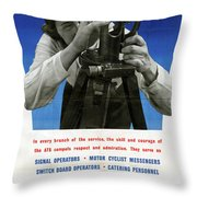 Poster Women Workers Throw Pillow