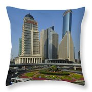Pudong Skyline Throw Pillow