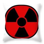 Radiation Warning Sign Throw Pillow