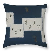 7 Ray World Dance Throw Pillow