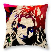 Robert Plant Throw Pillow by Marvin Blaine