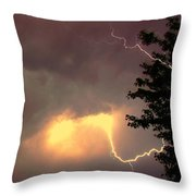 Rounds 2 3 Late Night Nebraska Storms Throw Pillow