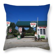 Route 66 Sinclair Station Throw Pillow