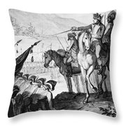 Saratoga: Surrender, 1777 Throw Pillow