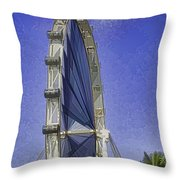 Singapore Flyer  Throw Pillow