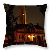 St Simons Island Lighthouse 2 Throw Pillow