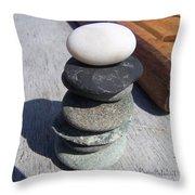 7 Stone Cairn Throw Pillow