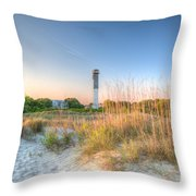 Sandy Shore Throw Pillow