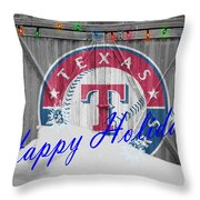Texas Rangers Throw Pillow