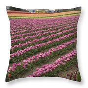 Tulip Field Throw Pillow