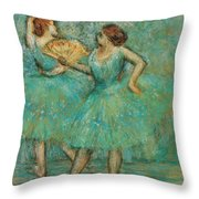 Two Dancers Throw Pillow
